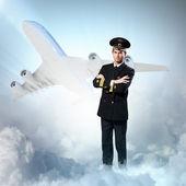 Image of male pilot — Stock Photo
