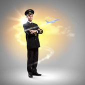 Image of male pilot — Stock Photo