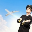 Image of male pilot — Stock Photo #21211093