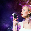 Stock Photo: Image of female singer