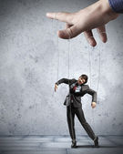 Business man marionette — Stock Photo