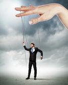 Obchodní muž marionet — Stock fotografie