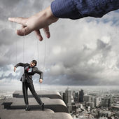 Marionete de homem de negócios — Foto Stock
