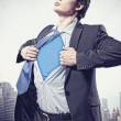 Young superhero businessman - Stockfoto
