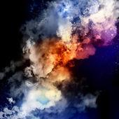 Kosmiska moln av dimma — Stockfoto