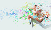 Image of sport woman jumping — Stock Photo