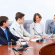 Stock Photo: Four businesspeople at meeting