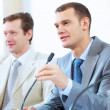 Two businesspeople at meeting — Stock Photo #21242167