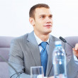 Two businesspeople at meeting — Stock Photo