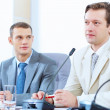 Stock Photo: Two businessmen at meeting