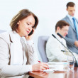 Four businesspeople at meeting — Stock Photo #21242423