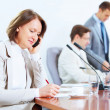 Four businesspeople at meeting — Stock Photo
