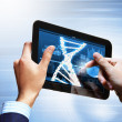 Dna strand On The Tablet Screen — Stock Photo #21246725
