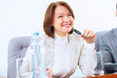 Business woman at meeting — Stock Photo