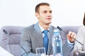 Dos empresarios en reunión — Foto de Stock