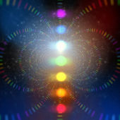Cosmic energy abstract background — 图库照片