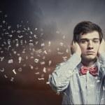 Apuesto empresario sordo — Foto de Stock