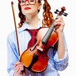 Young woman violinist — Stock Photo #26302025