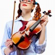 Young woman violinist — Stock Photo