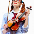 Young woman violinist — Stock Photo #26302183