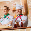 Portrait of two cooks with crossed arms — Stock Photo #26312241