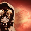 Man in gas mask — Stock Photo #26314837
