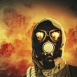 Man in gas mask — Stock Photo #26314843