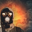 Man in gas mask — Stock Photo #26314845