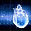 Human heart beats — Stock Photo