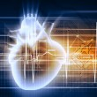 Human heart beats - Stock Photo