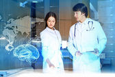 Two young doctors — Stock Photo