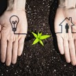 Humhands and ecology symbols — Stock Photo #26348281