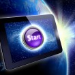 Great tablet with a Start button — Stock Photo
