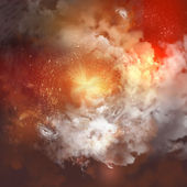 Cosmic clouds of mist — Stock Photo
