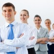 Group of business standing in row — Stock Photo