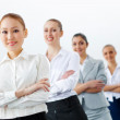 Group of business standing in row — Stock Photo #26404689