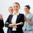Asian business woman with colleagues - Stockfoto