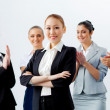 Stock Photo: Asian business woman with colleagues