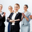 Asian business woman with colleagues — Stock Photo