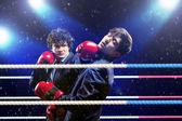 Dos joven empresario de boxeo — Foto de Stock