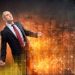 Businessman in anger — Stock Photo