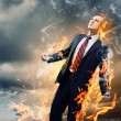 Businessman in anger — Stockfoto
