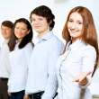 Five students smiling — Stock Photo
