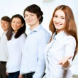 Five students smiling — Stockfoto