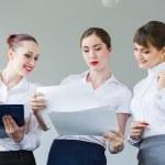 Three young businesswomen — Stock Photo #29012741