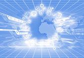 Afbeelding van de digitale wereld — Stockfoto