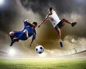 Jogador de futebol dois — Foto Stock