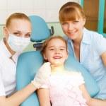 Little girl visiting dentist — Stock Photo