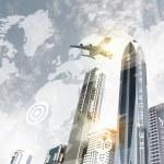 Постер, плакат: Plane in sky