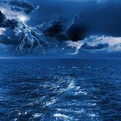 Thunderstorm in sea — Stock Photo